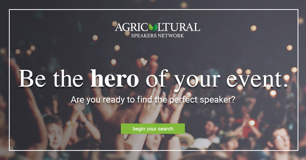 Find ideal speakers for your agricultural event - Expert
